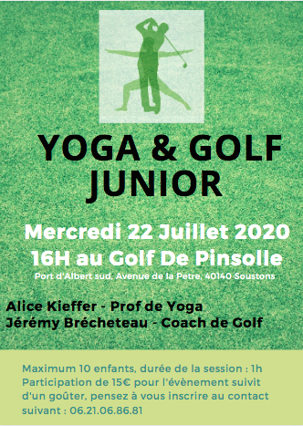 yoga golf junior pinsolle soustons