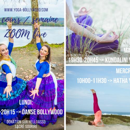 cours sur zoom danse et yoga